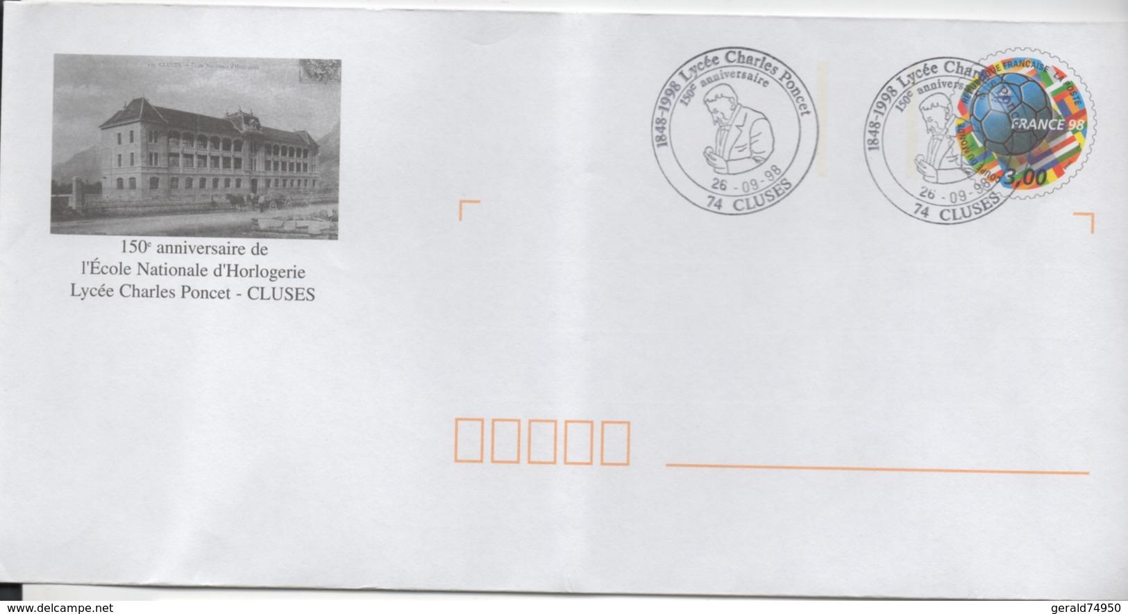 Enveloppe Commémorative - 150ème Anniversaire De L'école Nationale D'horlogerie - Lycée Charles Poncet -  Cluses - Autres