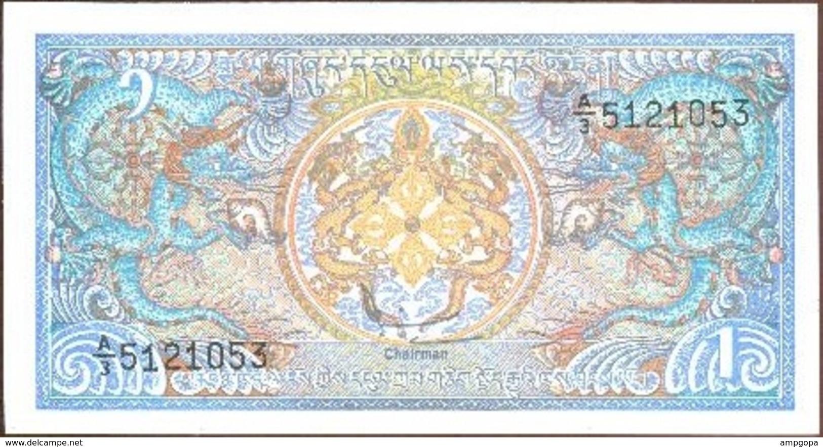 Bután - Bhutan 1 Ngultrum 1990 Pk 12 B UNC - Bhután