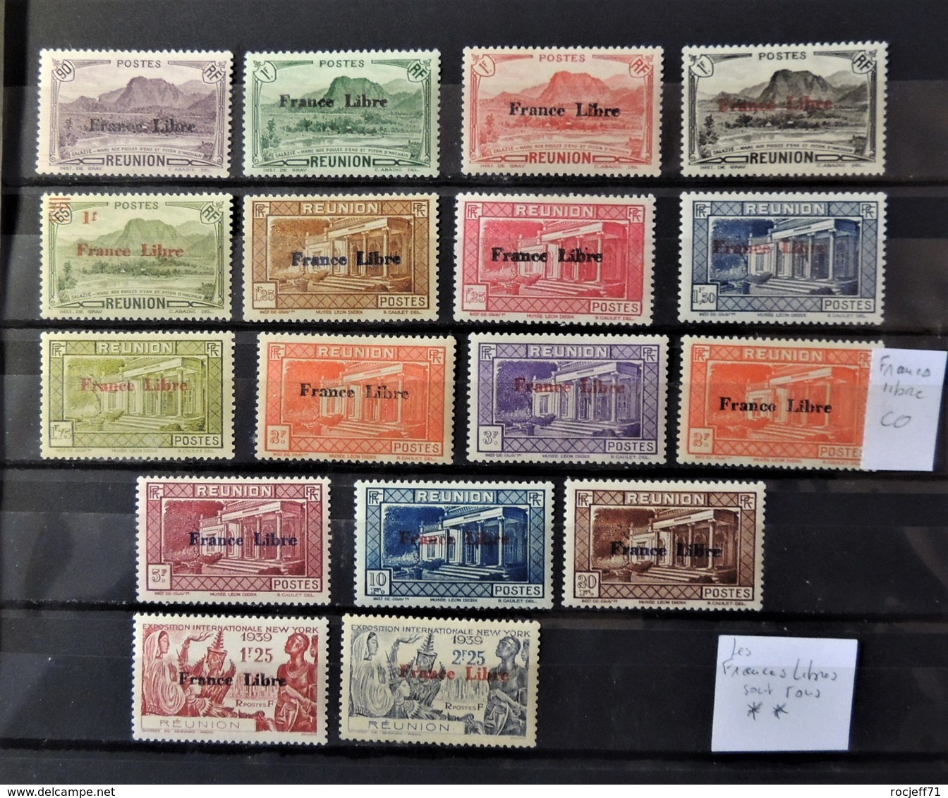 Réunion - 30 Scans - Superbe Collection Depuis 1885 // Poste + PA + Taxe + CFA - France Libre Tous **  Cote : 2200 Euros - Stamps