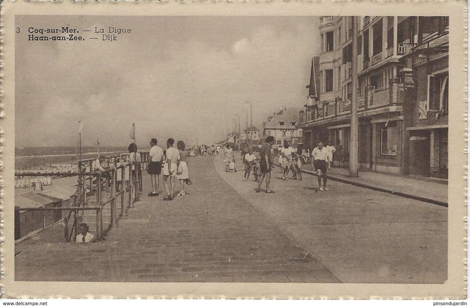 De Haan - Coq Sur Mer - La Dique - Dijk - 1948 - De Haan