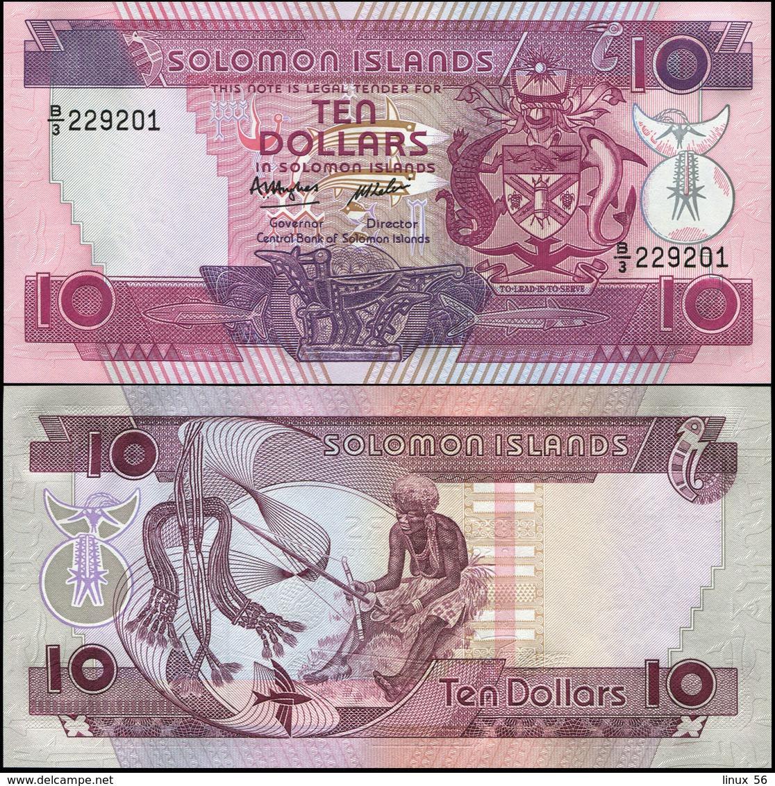 SOLOMON ISLANDS - 10 Dollars Nd.(1986) UNC P.15 - Isola Salomon