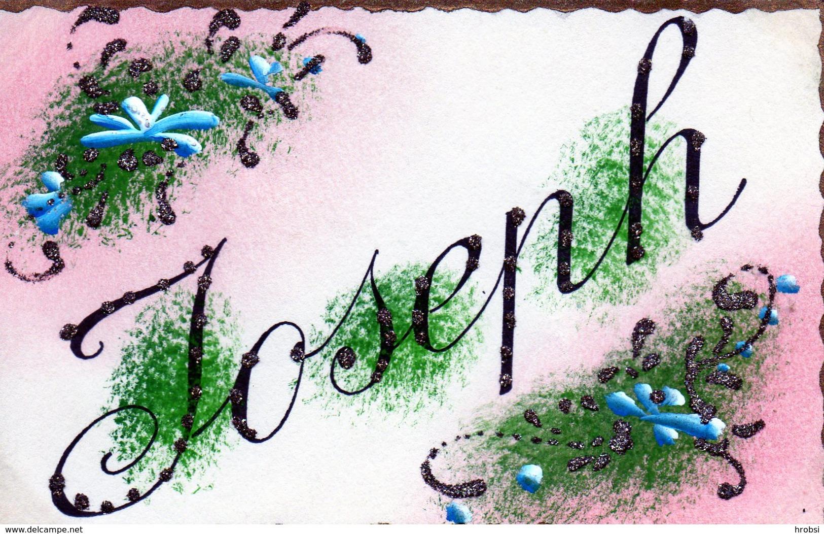 Prenoms,   Joseph Avec Paillettes - Prénoms