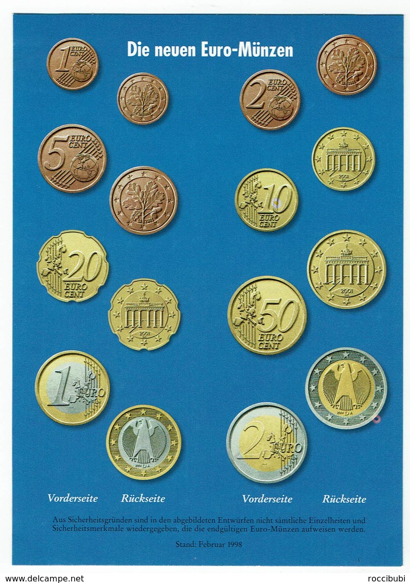 Die Neuen Euro Münzen - Monnaies (représentations)