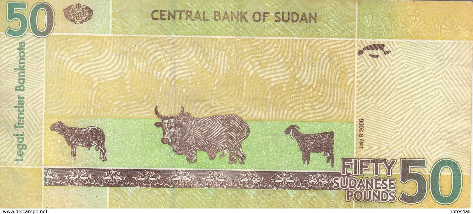 SUDAN 50 POUNDS 2006 P-69 VF+ */* - Sudan