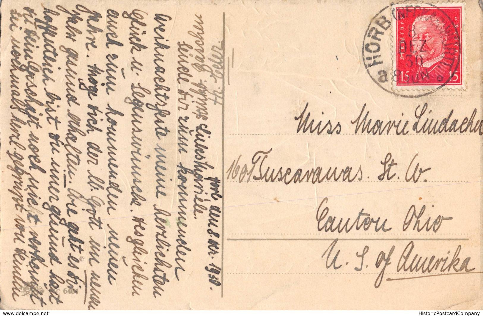 HERZLICHE WEIHNACHSGRÜßE-WINTER SETTING-ARTIST DRAWN GERMAN 1930 POSTMARK HORB NECKERWURTT POSTCARD 39558 - Autres