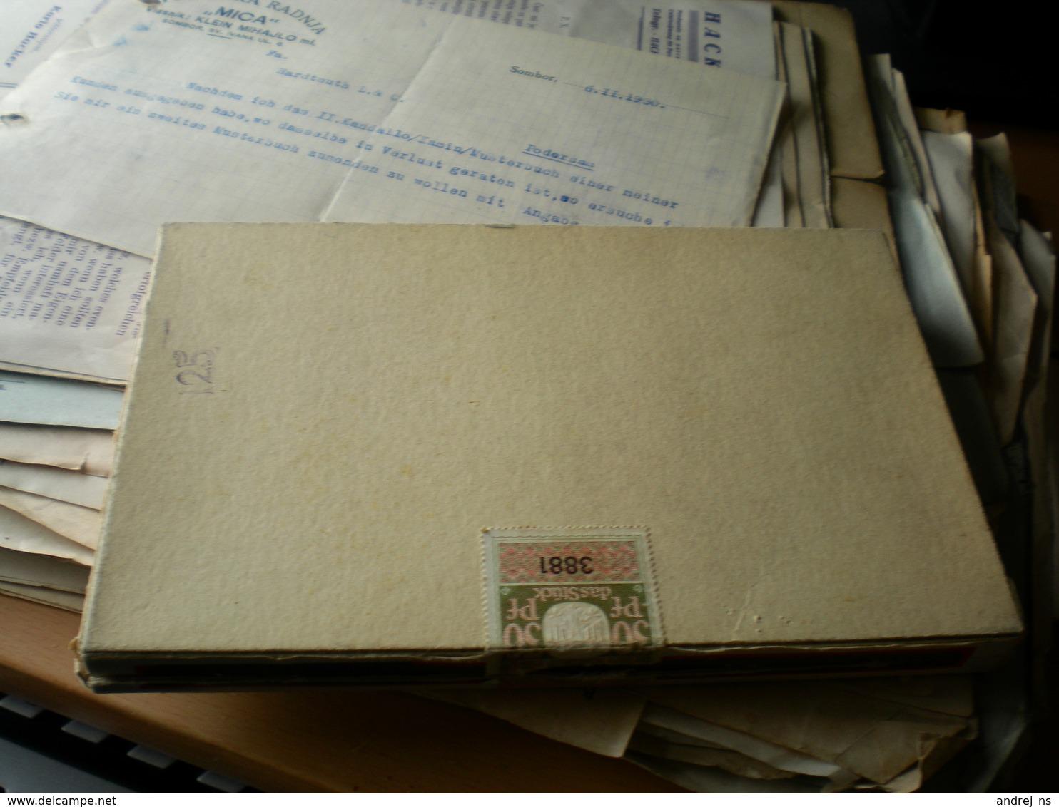 Old Cardboard Box Duelt Krone Elbaco Cello Ready  For Use 30 10 Zigarren - Contenitori Di Tabacco (vuoti)