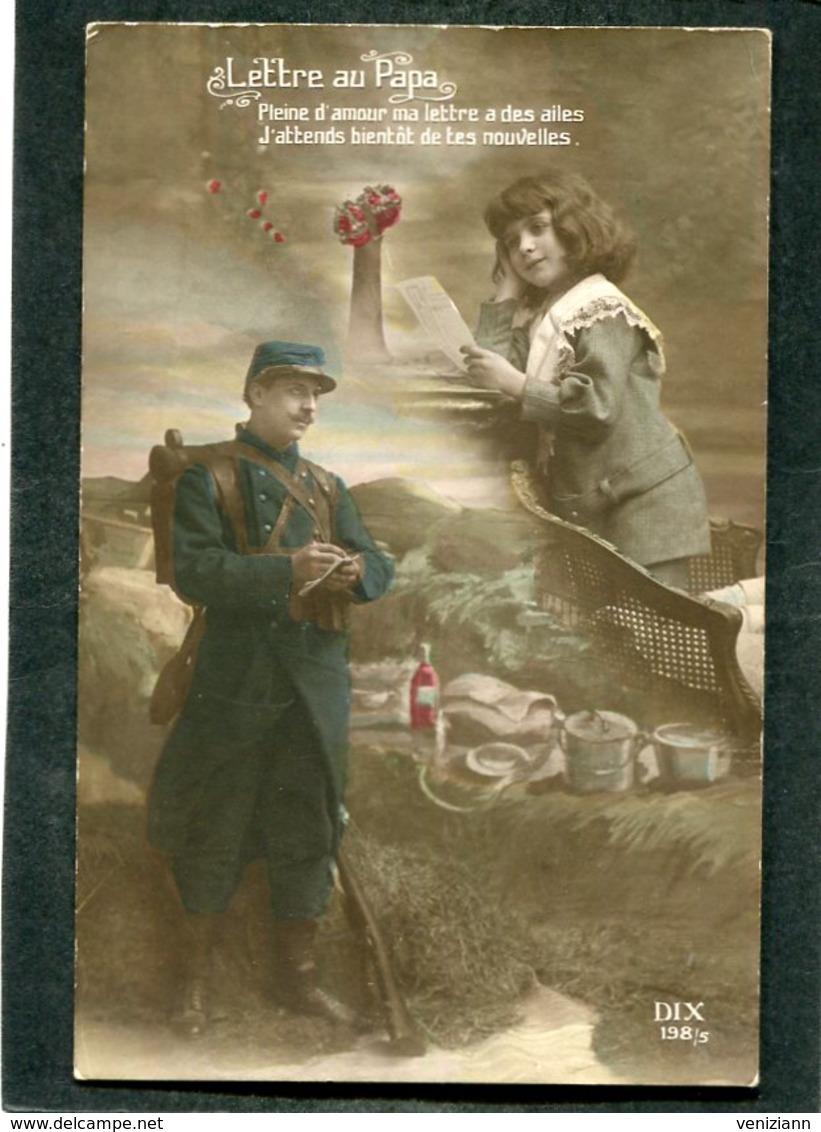 CPA - LETTRE AU PAPA - Guerre 1914-18