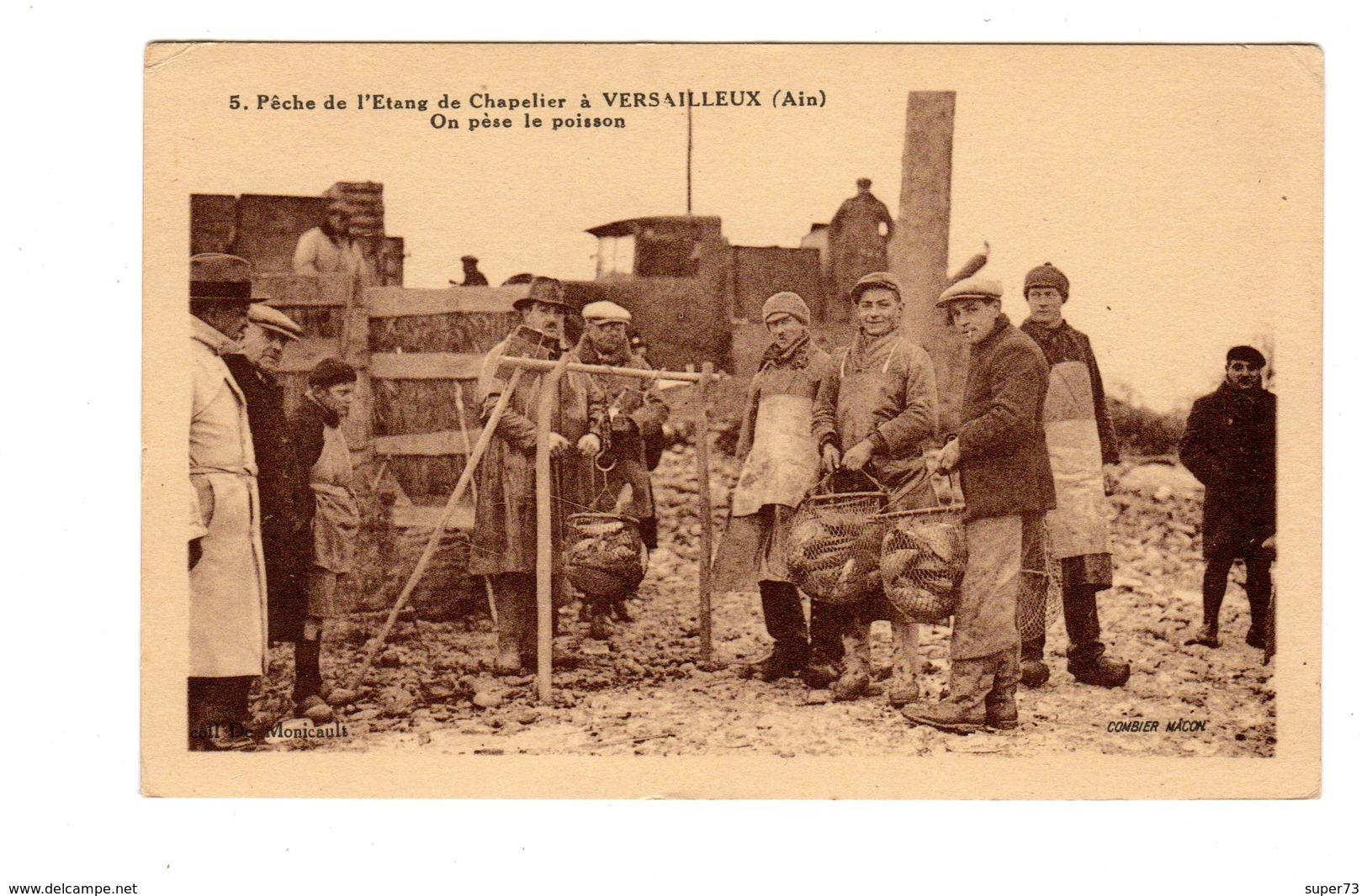 CPA 01 - Pêche De L'etang De Chapelier à Versailleux ( Ain ) On Pèse Le Poisson - Autres Communes