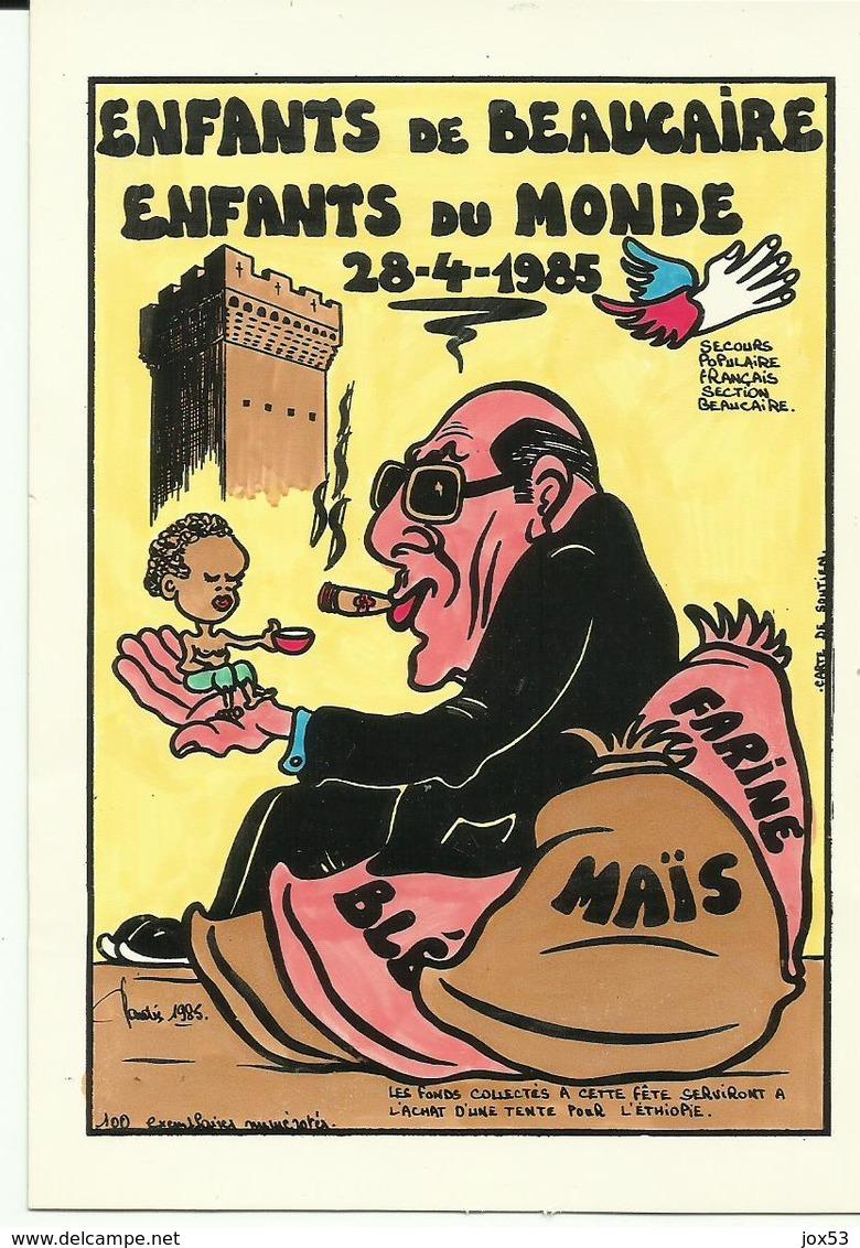 18- JIHEL- BEAUCAIRE- 1985- Coulleur-Secours Populaire-numérotée 3/3 - Frankreich