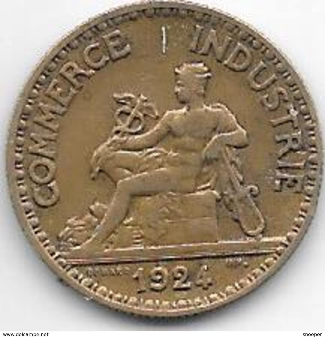 France 50 Centimes  1924  Km  884   Vf+ - France