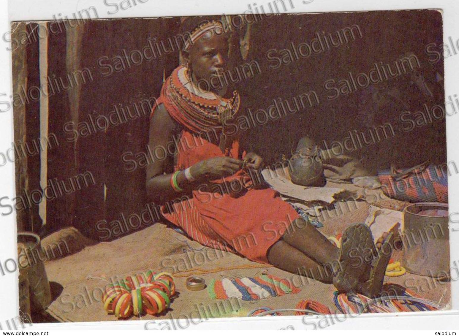 EXOTIC AFRICAN TRIBES KENYA MASAI GIRL Air Mail Storia Postale Kenia Girl - Kenia