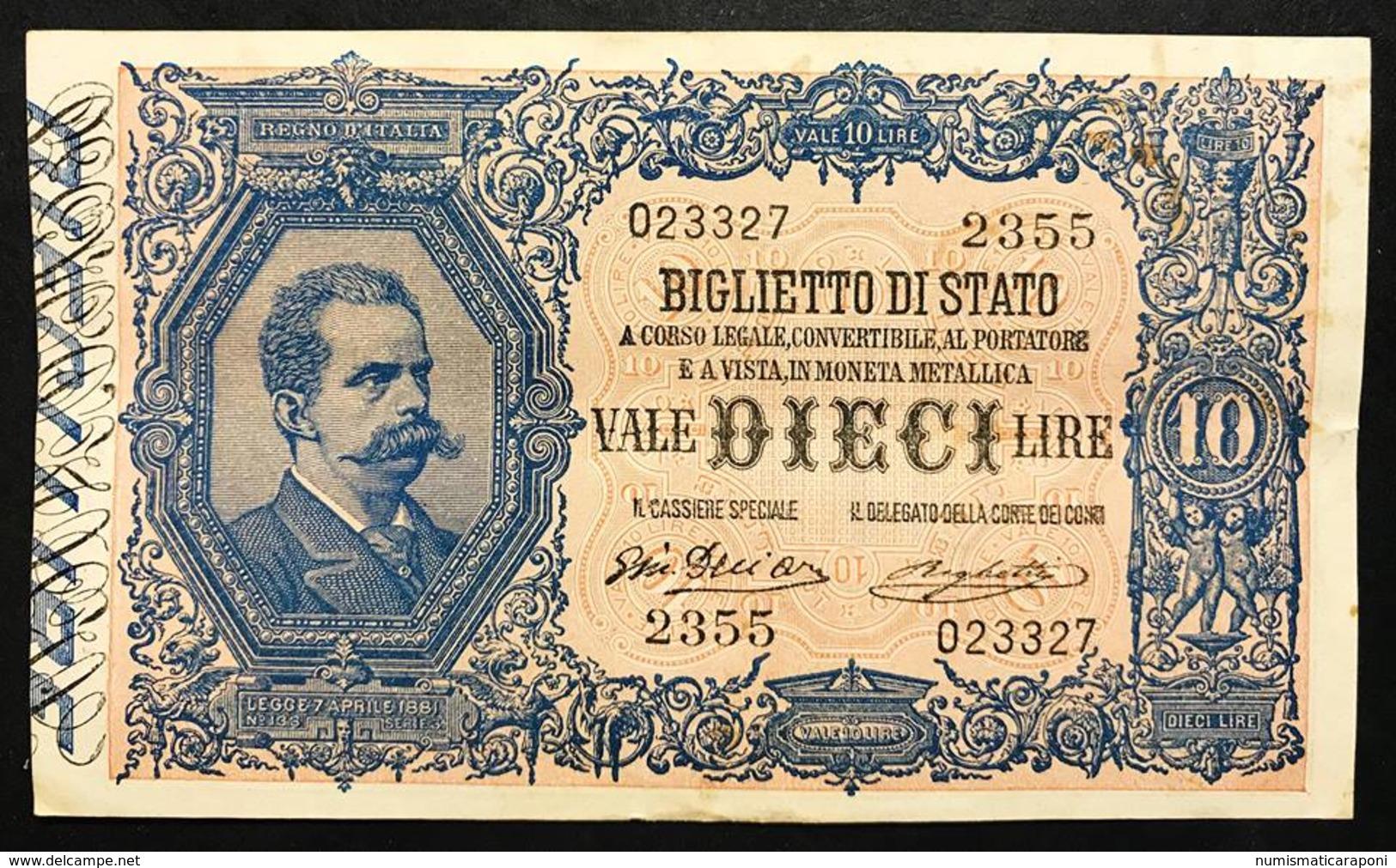 10 LIRE VITTORIO EM. III° 11 10 1915 RARA Spl Naturale  LOTTO 1373 - Italia – 10 Lire