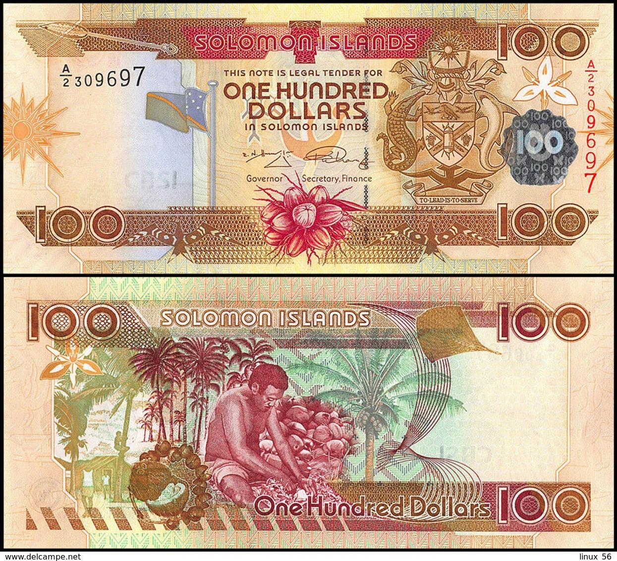 SOLOMON ISLANDS - 100 Dollars Nd.(2006-2009) UNC P.30 (2) - Salomons