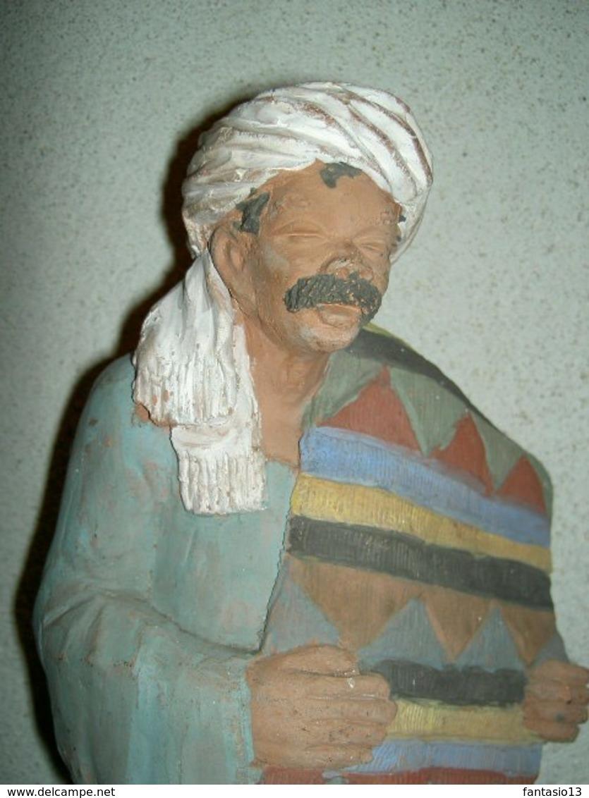 Terre Cuite Ancienne Orientaliste  . - Sculptures