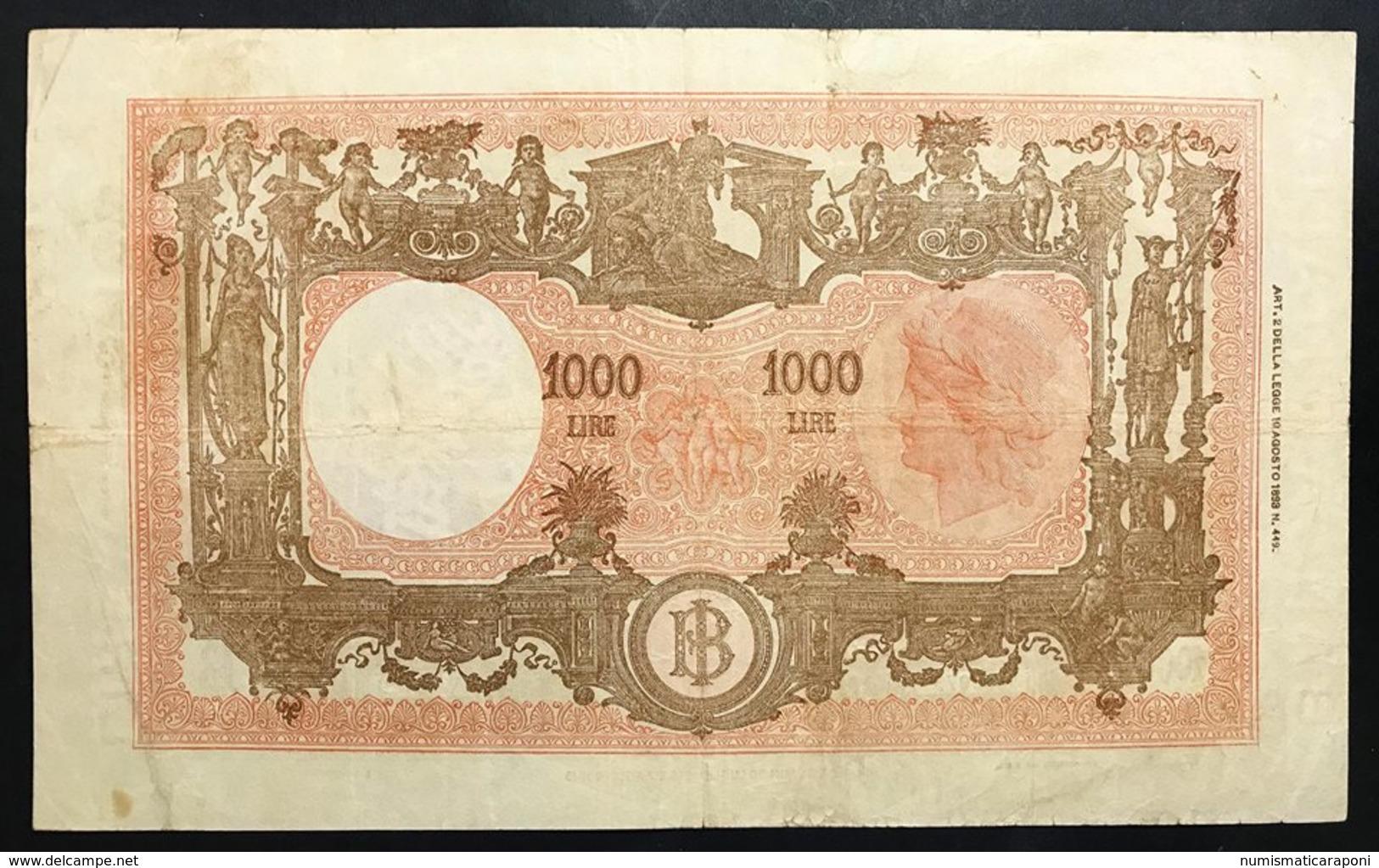 1000 Lire Grande M Testina B.I.12 07 1947 Q.BB Naturale  LOTTO 2416 - 1000 Lire