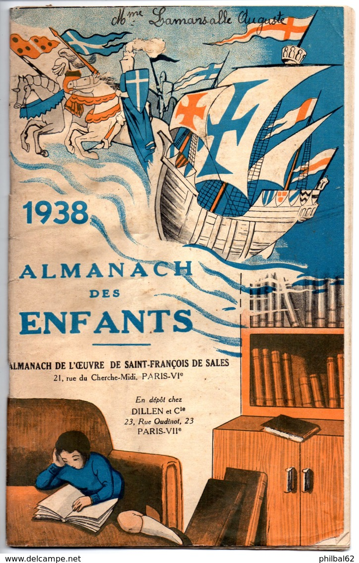 Almanach Des Enfants - 1938. Almanach Des Oeuvres De St.François De Sales. Articles Divers, 50 Pages. - Old Paper