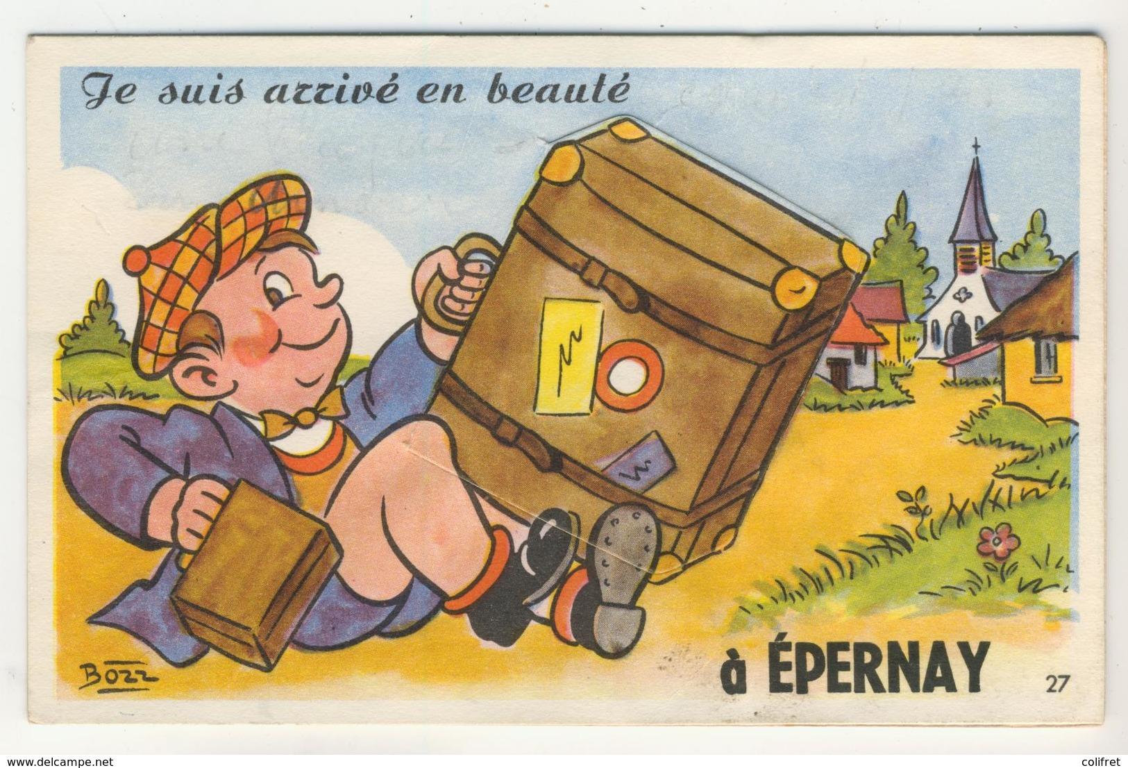 51 - Epernay - Carte à Systèmes     -       Je Suis Arrivé En Beauté - A Systèmes