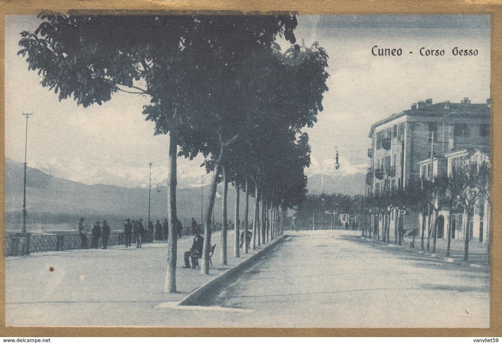 CUNEO-CORSO GESSO-CARTOLINA NON VIAGGIATA ANNO 1920-1930 - Cuneo