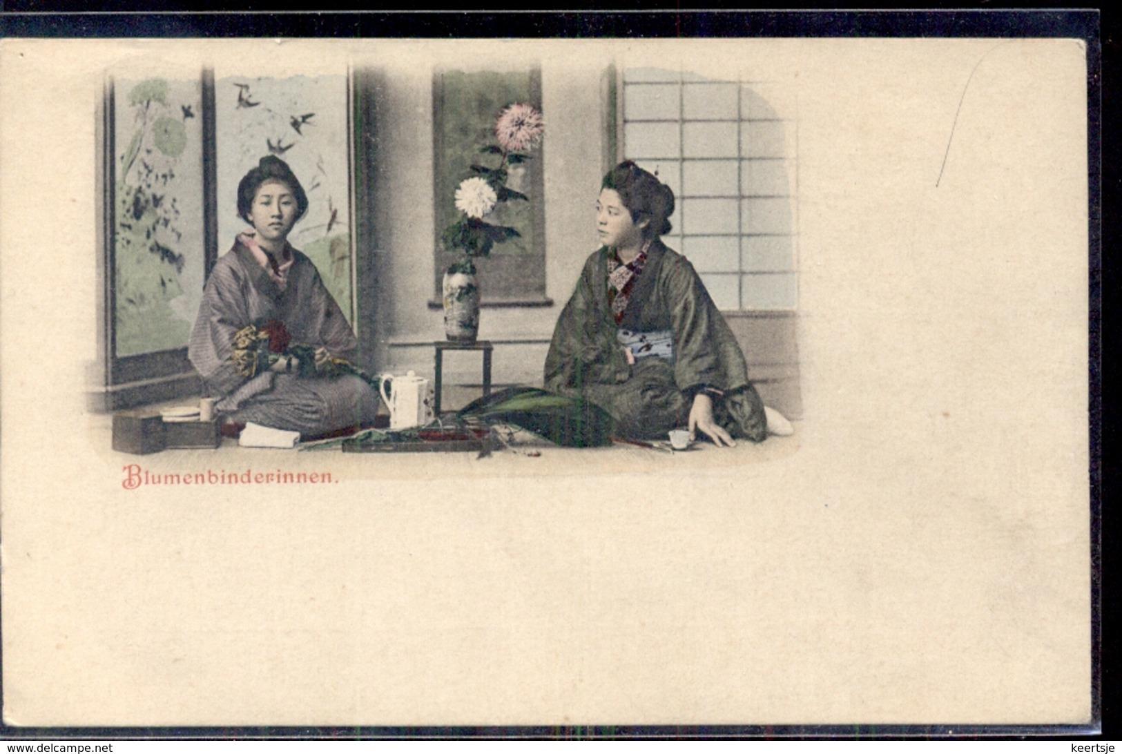 China Japan ?? - Blumenbinderinnen  - 1900 - Chine