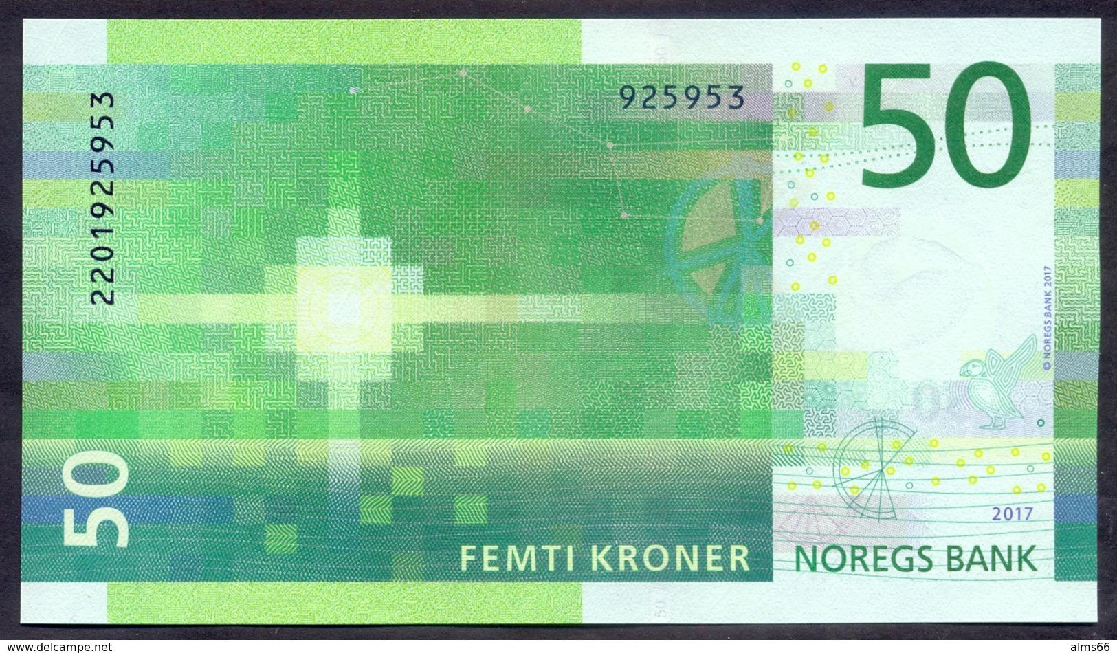Norway 50 Kroner 2017 UNC  P-53 - Norvegia
