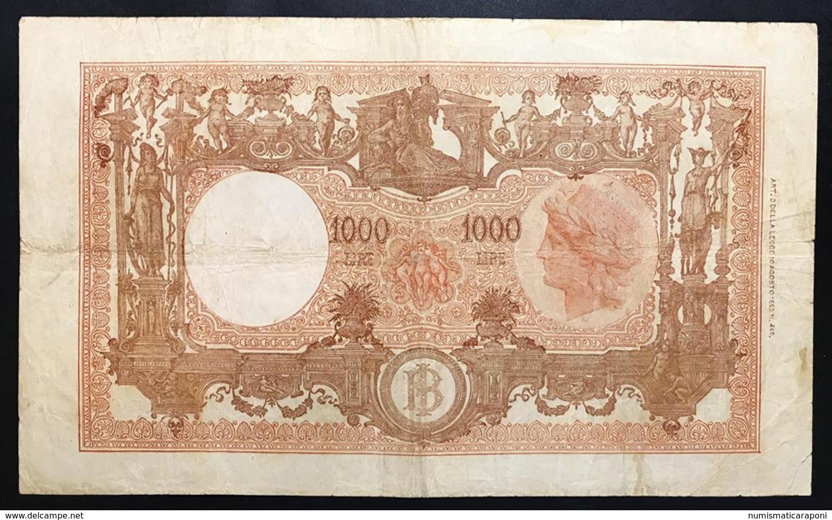 1000 LIRE BARBETTI REPUBBLICA 19 12 1946 BIGLIETTO NATURALE MB/BB LOTTO 2289 - 1000 Lire