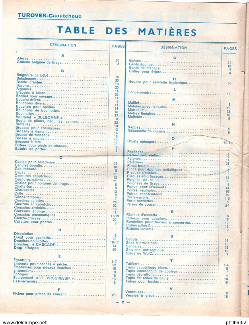 Catalogue 24 P. N° 538. Turover, Quincaillerie, Tous Articles En Caoutchouc. Rue P. Auguste à Paris. - France