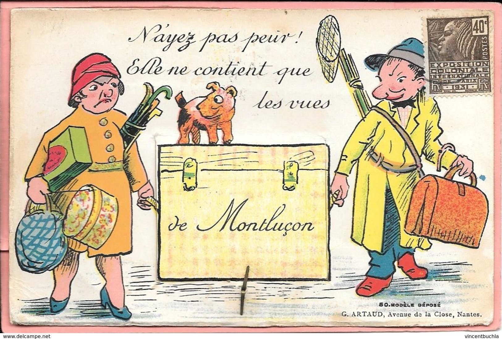 Carte Système N'ayez Pas Peur! Elle Ne Contient Que Des Vues De Montluçon (attache Parisienne) - Montlucon