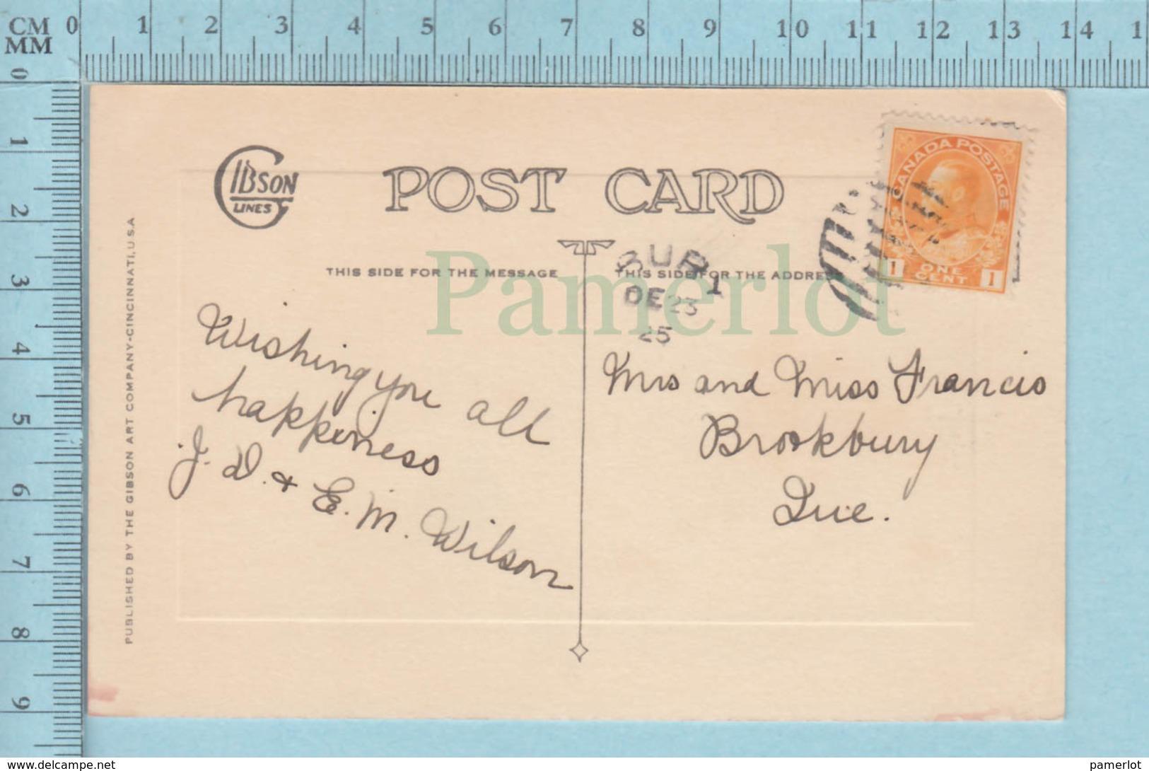 Carte Postale CPA - Fleurs - Used Voyagé En 1925  + CND Timbre, Send To Brookbury Quebec - Unclassified
