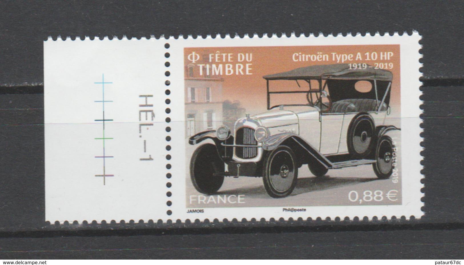FRANCE / 2019 / Y&T N° 5302 ** : Fête Du Timbre (Citroën Type A) BdF G + Presse - Gomme D'origine Intacte - France