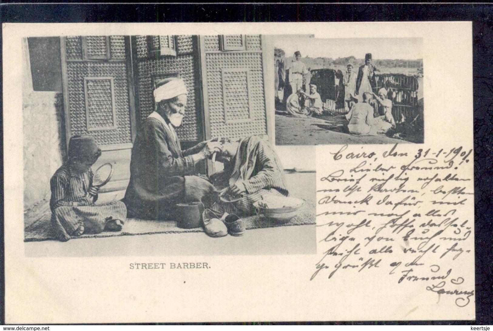 Egypte - Cairo - Street Barber  - 1900 - Non Classés