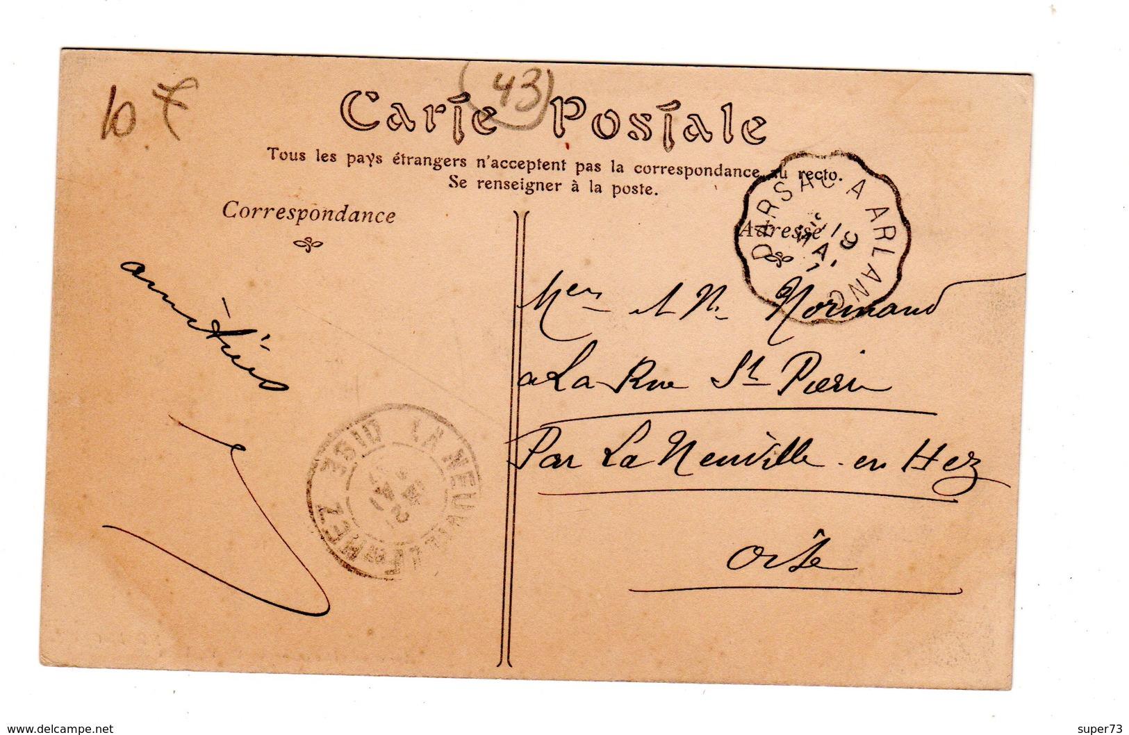CPA 43 - La Chaise Dieu - Avenue De La Gare ( Anciens Remparts ) Hotel Du Progrès - La Chaise Dieu
