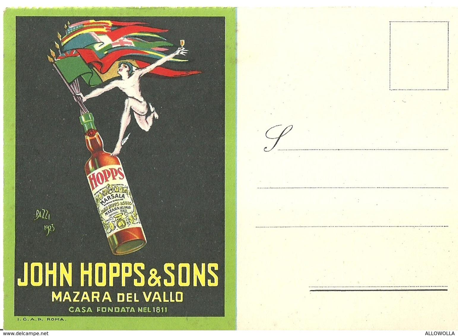 "2961 "" JOHN HOPPS & SONS - MAZARA DEL VALLO "" CART. ORIG. SPED. - Commercio"
