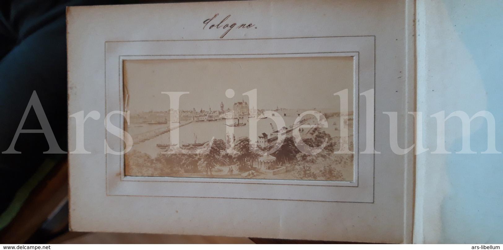 Album / Photo-carte De Visite / 12 CDV's / Rhein Album / Size: 10,70 X 15 Cm. / Antique / Deutschland /  Rheinland-Pfalz - Albums & Collections