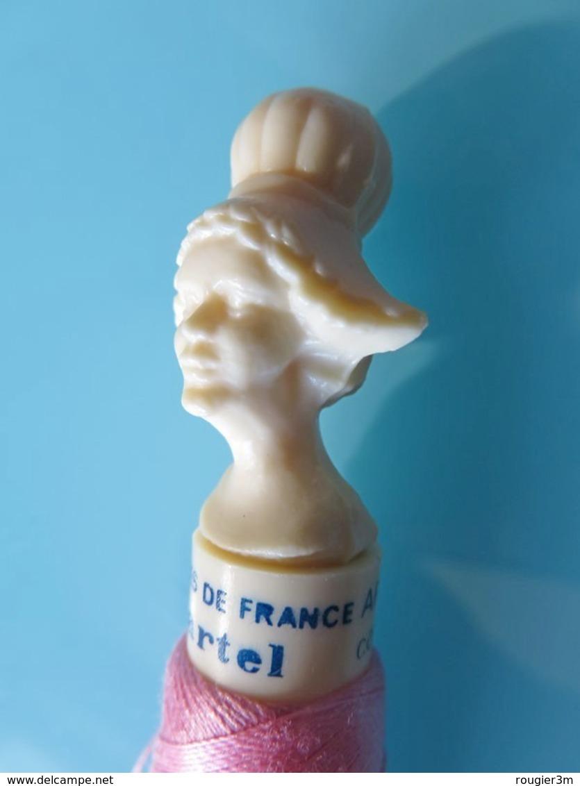 409 - Bobine Fil - Têtes Images De France - Bordeaux - Sartel - Ariane Coton De France - Loisirs Créatifs