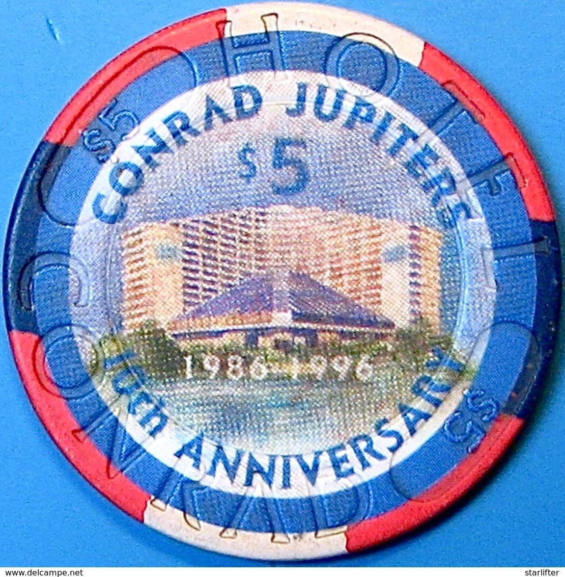 $5 Casino Chip. Jupiters, Gold Coast, Australia. N73. - Casino