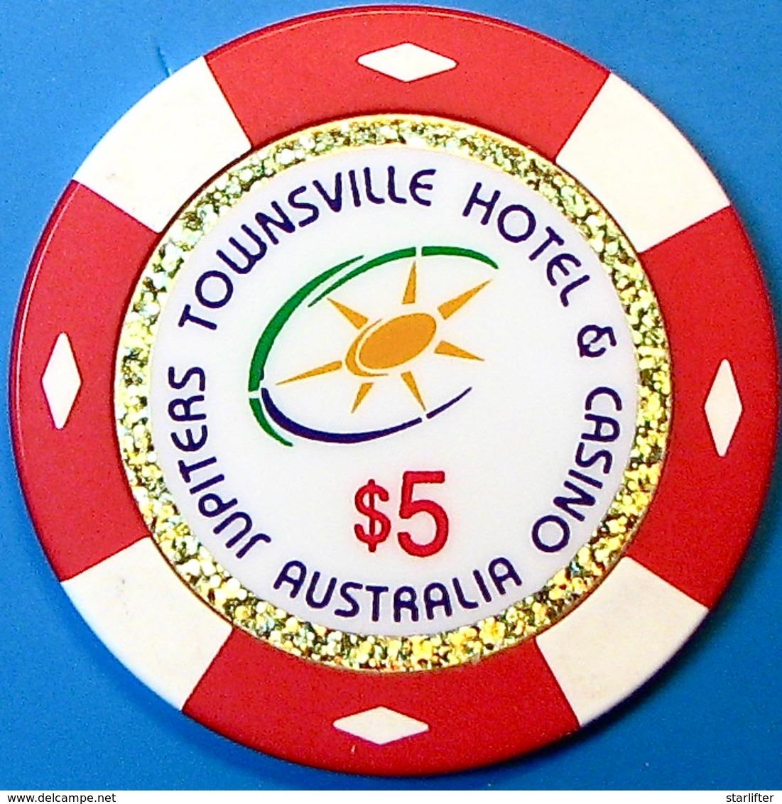 $5 Casino Chip. Jupiters, Townsville, Australia. N73. - Casino