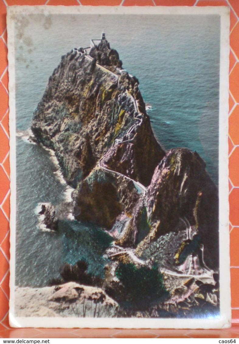 Ponza Isola Di Roma Faraglioneciclopicodella Guardia Cartolina 1955 Con Annullo Frazionato - Italia