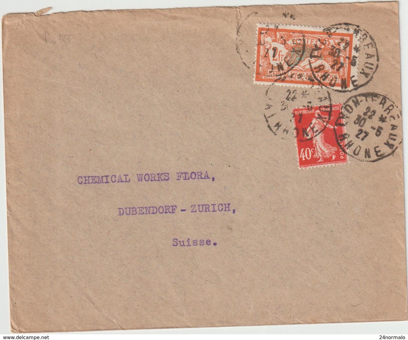ESC 2F40 Merson/Semeuse O.Daguin Lyon Terreaux -> Suisse 1927 - 1921-1960: Periodo Moderno