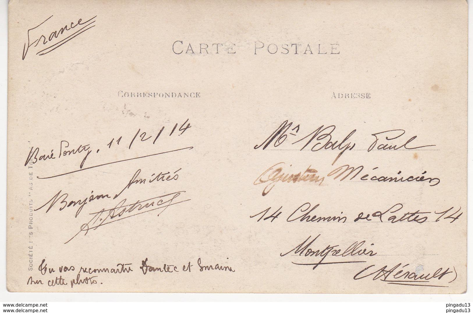 Au Plus Rapide Carte Photo Marine Nationale Les Torpilleurs De Bizerte Tunisie Baré Ponty ? 11 Février 1914 - Régiments