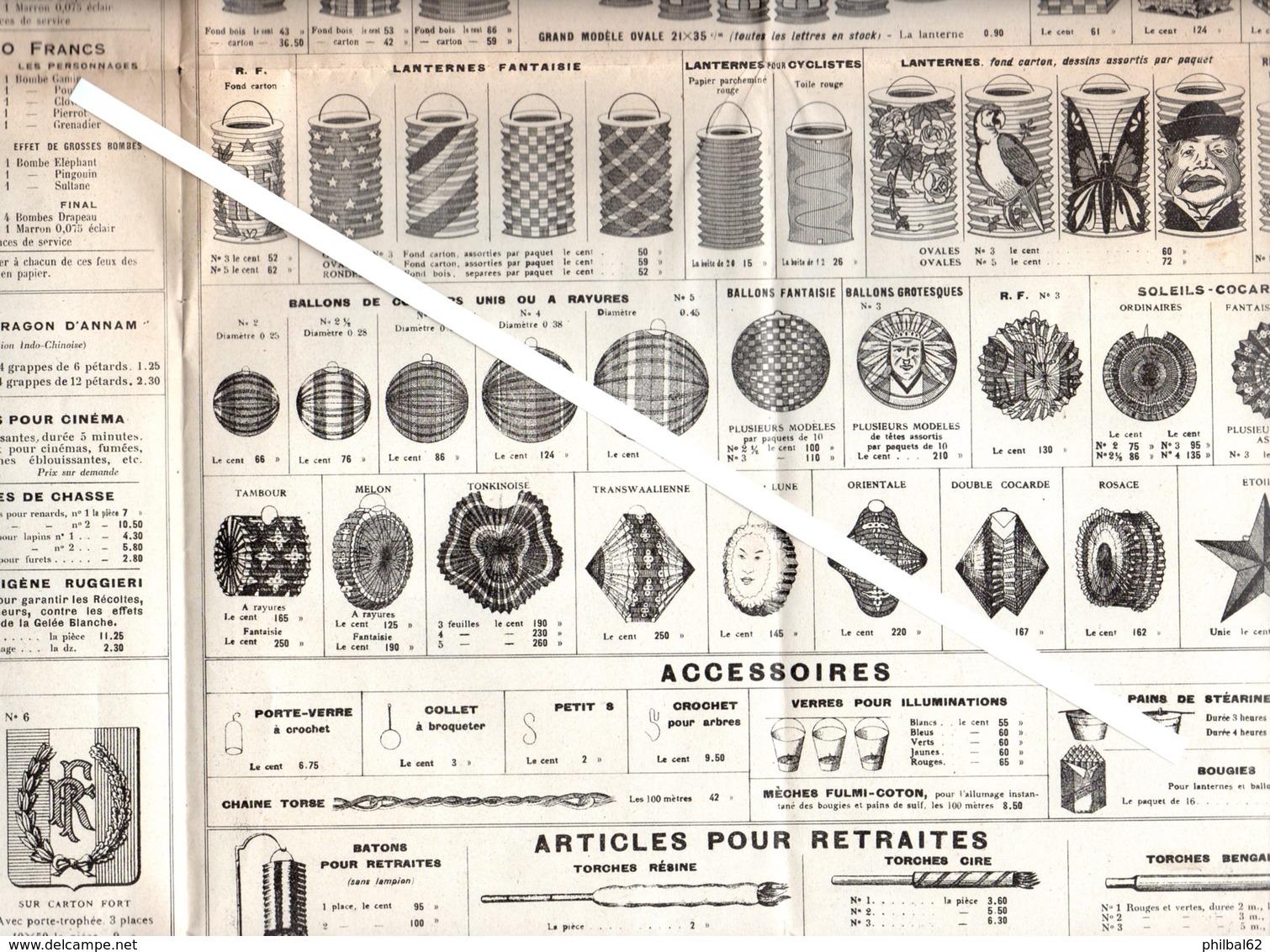 Catalogue Ruggieri 1933. Feux D'artifices, Fusées, Pétards, Drapeaux, écussons, Guirlandes, Accessoires..... - France