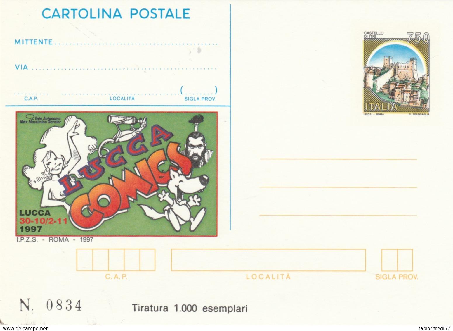 INTERO POSTALE 1997 LUCCA COMICS NUOVO TIR.1000 (LV757 - 6. 1946-.. Repubblica