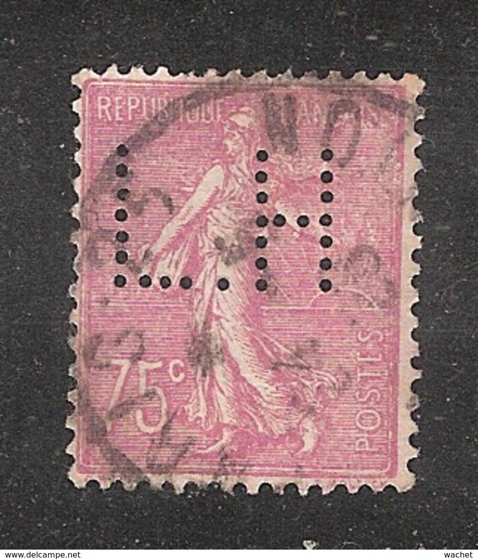Perfin/perforé/lochung France No 202 L.H  Librairie Hachette (83) - Francia