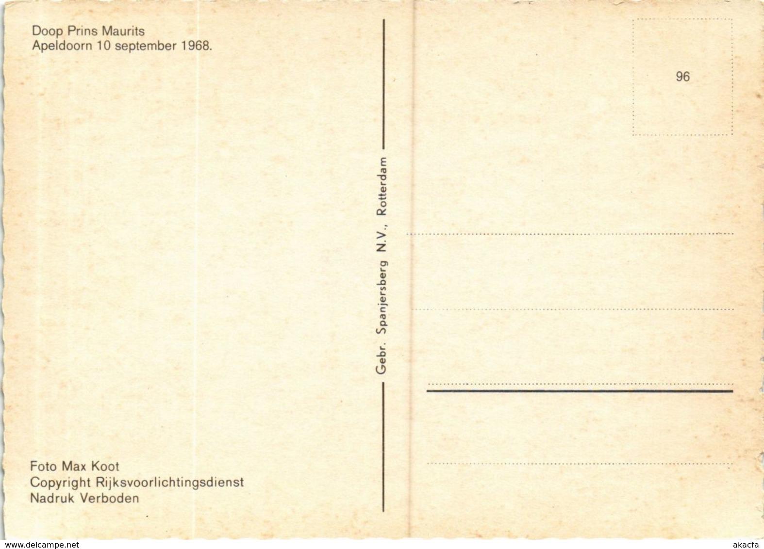 CPM Doop Prins Maurits DUTCH ROYALTY (814536) - Familles Royales
