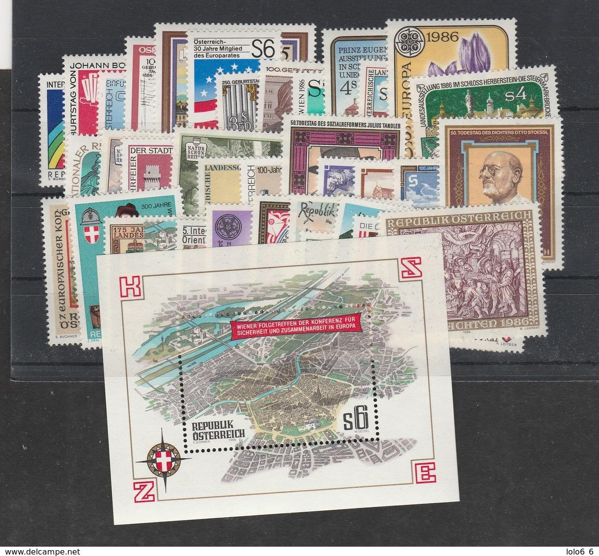 Jahrgang 1986 Kpl. Postfrisch - Günstig - Österreich