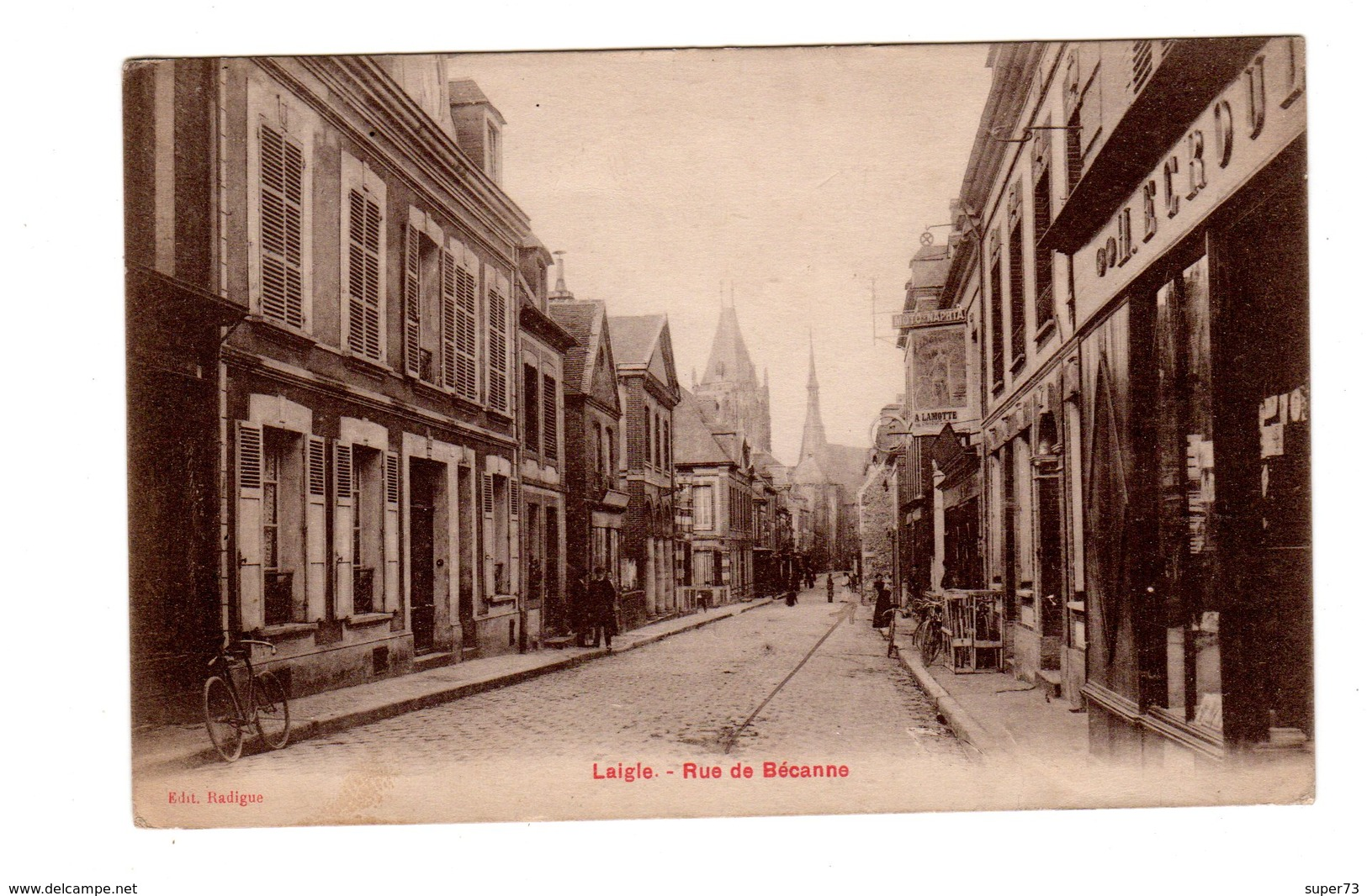 CPA 61 - Laigle - Rue De Becanne - L'Aigle