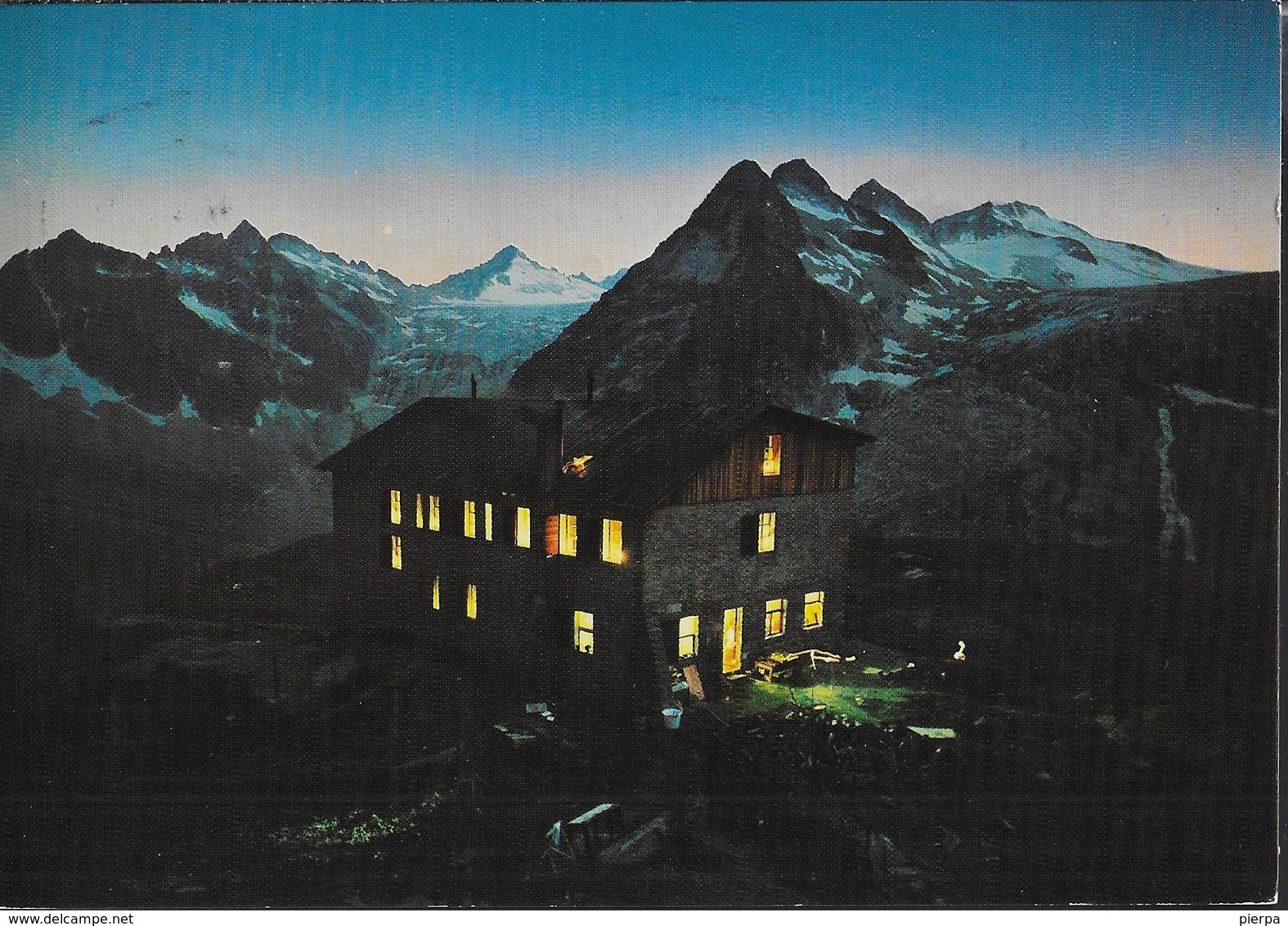 GRUPPO ADAMELLO - RIFUGIO CITTA' DI TRENTO - NOTTURNO - TIMBRO DEL RIFUGIO - VIAGGIATA DA PINZOLO 1985 - Alpinisme