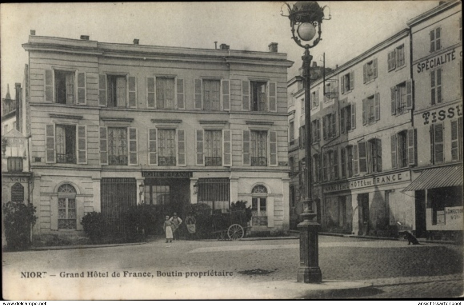 Cp Niort Deux Sèvres, Grand Hotel De France - France