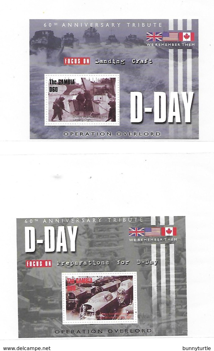 Gambia 2004 D-day 60th Anniversary 2 S/S MNH - Gambie (1965-...)