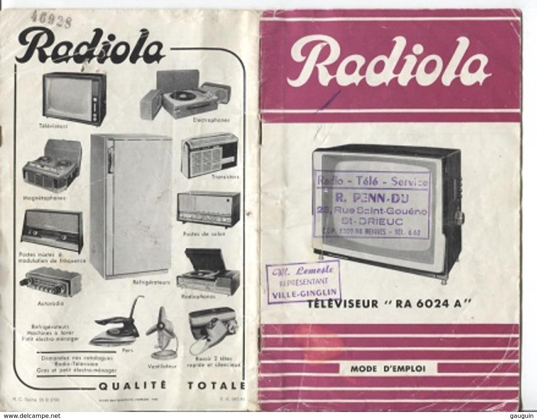 PUBLICITE RADIOLA - TELEVISEUR RA 6024 A - Advertising