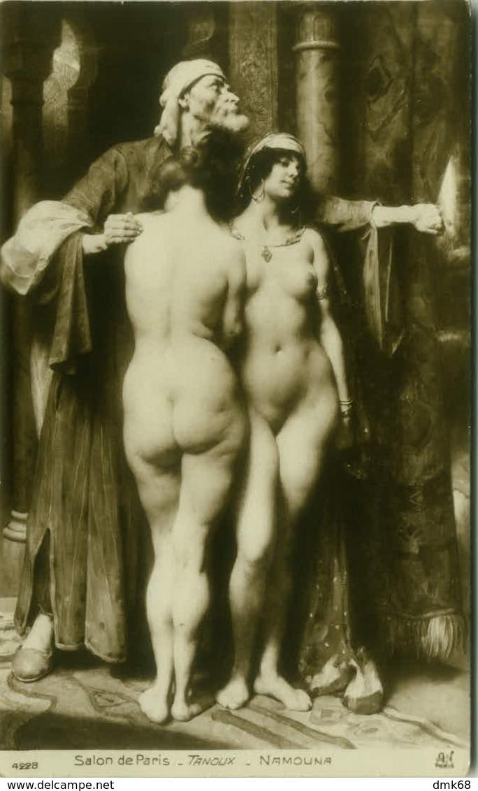 SALON DE PARIS - TANOUX  NAMOUNA - NAKED WOMEN - 1910s ( BG486) - Tableaux